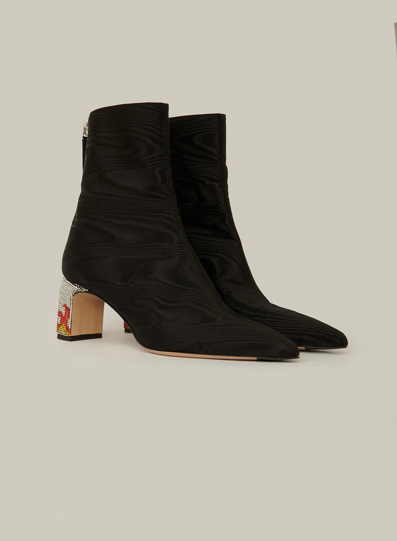 "MIDNIGHT / LETE BOOTIE <p class=""des-1-prodotto"">Moire Black</p>"